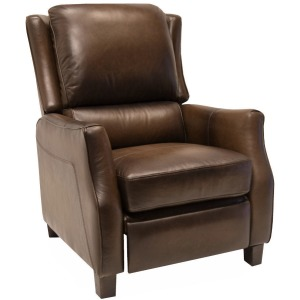 Push Back Recliner Montgomery-Nutmeg (Leather High Leg Recliners)