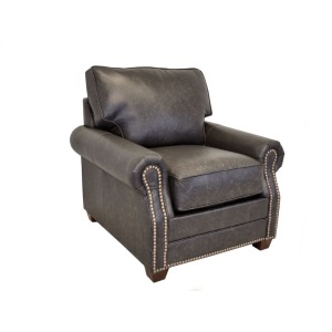 Middleton Leather Chair w/Brass Nails