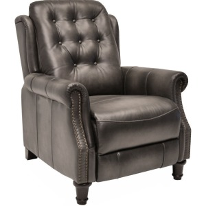 Push Back Recliner Oakley-Smoke (Leather High Leg Recliners)
