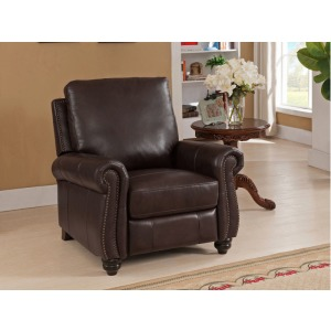 Raleigh Brown/Red Recliner