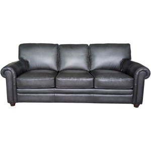Sofa in Oakley-Smoke (Stationary Leather)