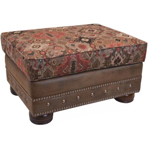 Dearborn Ottoman w/Brass Nails