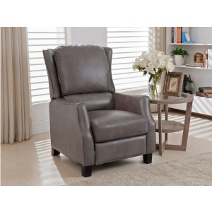 Push Back Recliner Montgomery-Gray (Leather High Leg Recliners)