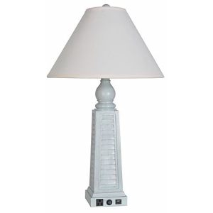 "30"" USB Polyresin Table Lamp"