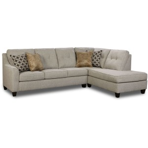 Blair Tweed Sofa w/Right Arm Facing Bump Chaise - Dante Tweed
