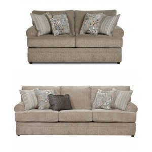 2PC Living Room Set - Macy Pewter