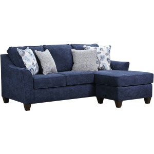 Sheffield Sofa w/Chaise - Prelude Navy