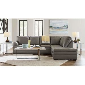Two Piece Sectional with Chaise - Soft Touch Silver