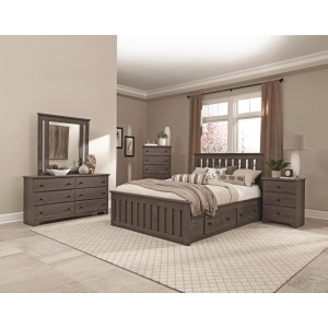 Shaker Twin Panel Bed