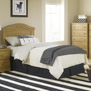 Oak Creek Twin Panel Headboard with Rounded Top