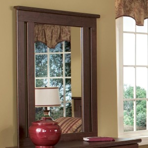 Shaker Framed Mirror with Supports