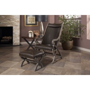 Hunter Chair & Ottoman - Wire Brushed Grey
