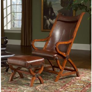 Hunter Chair & Ottoman - Tobacco
