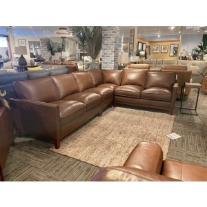 Entrada Brown Leather 4 PC Sectional