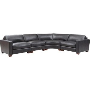Brent 4 PC Sectional - Charcoal