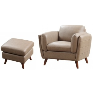 Mesa Chair & Ottoman - Ridge AnilinePlus