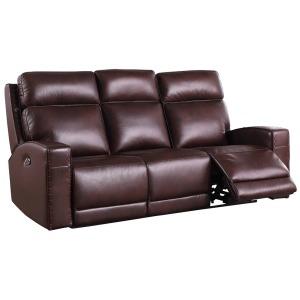 Blaine Power Reclining Sofa - Brown