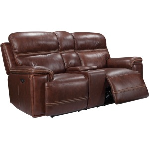 Fresno Loveseat with Console and Power Headrest