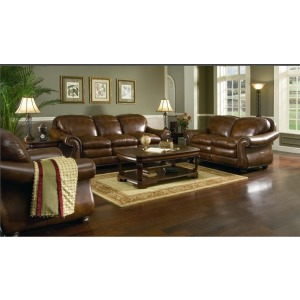 Hanover Stationary Leather Chair