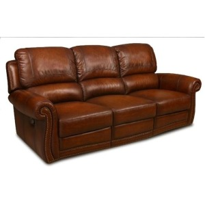 Parker Leather Dual Rocking Sofa