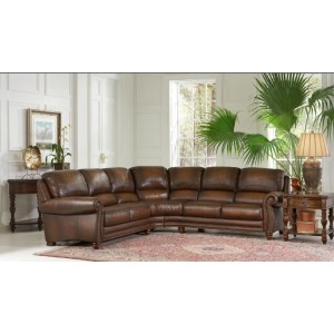 Parker Stationary Leather Sectional RAF