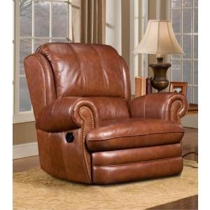 Williford Leather Swivel Rocker Recliner Chair