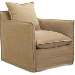 Slipcovered Swivel Chair