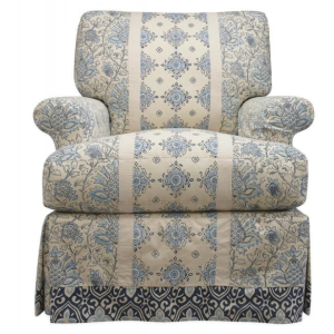 Slipcovered Swivel Chair