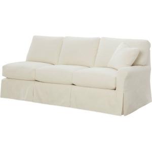 Slipcovered One Arm Sofa