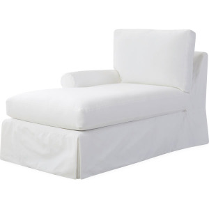 Slipcovered One Arm Chaise
