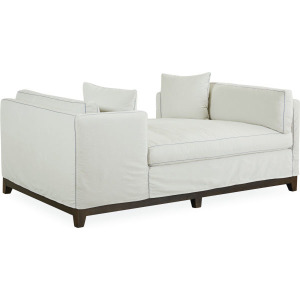 Slipcovered Double Chaise