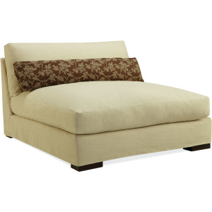 Slipcovered Armless Chaise