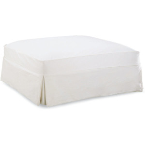 Slipcovered Cocktail Ottoman