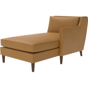 Leather One Arm Chaise