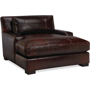 Leather TV Lounger