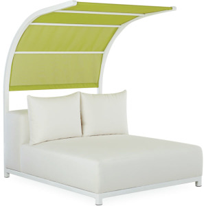 St. Barts Outdoor Chaise with Canopy