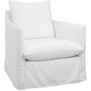 Yaupon Outdoor Slipcovered Swivel Chair