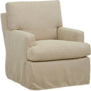 Rockport Outdoor Slipcovered Swivel Chair