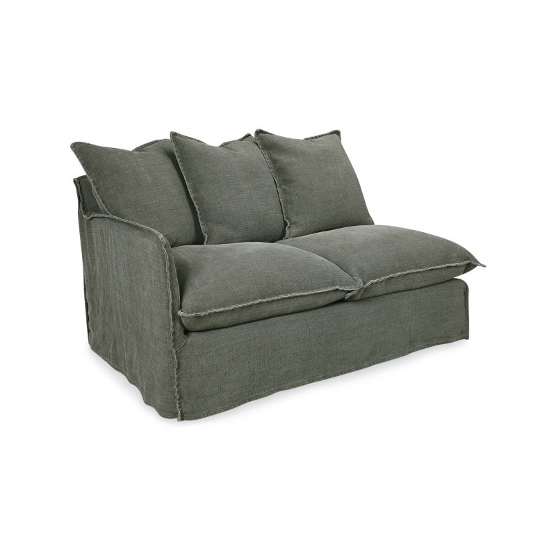 Stupendous Slipcovered One Arm Loveseat By Lee Industries C1297 19Lf Forskolin Free Trial Chair Design Images Forskolin Free Trialorg