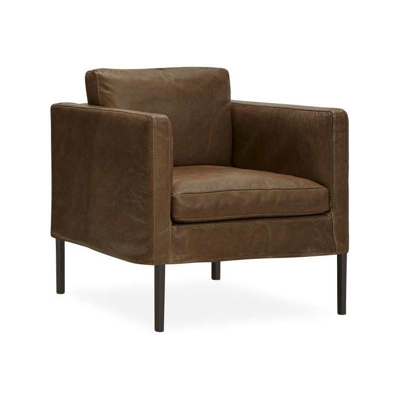 Leather Slipcovered Chair