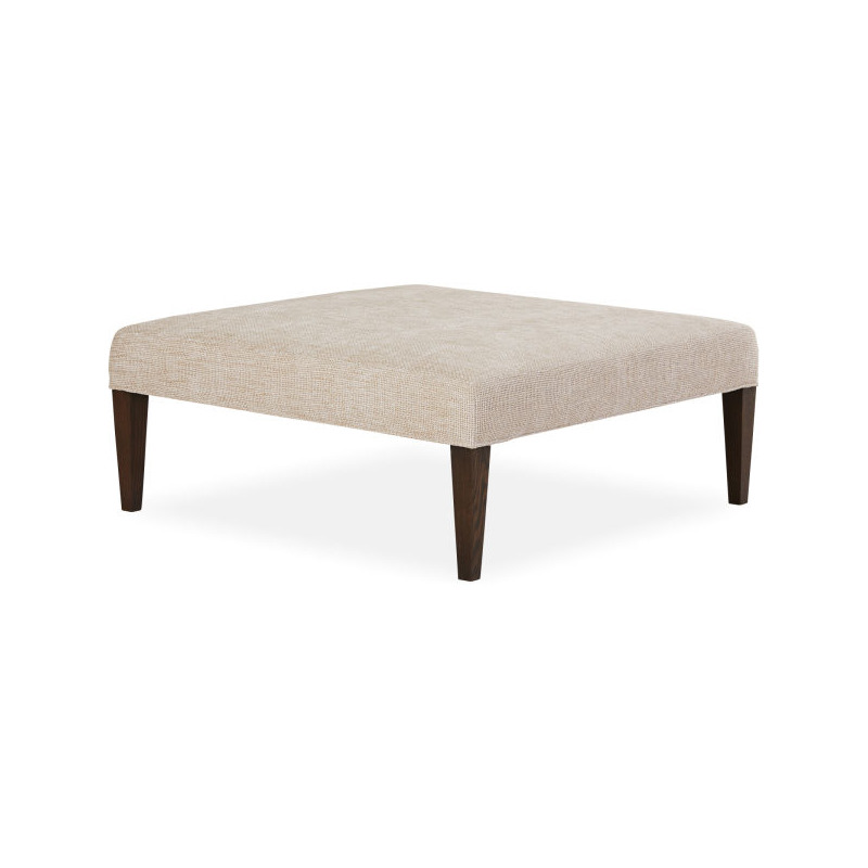 Leather Narrow Tapered Leg Cocktail Ottoman By Lee Industries Lntap4242 Willis Furniture Mattress