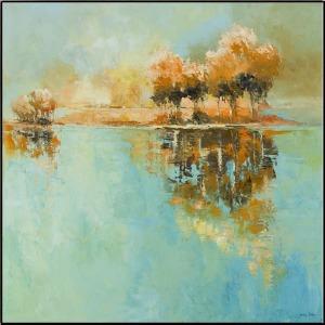 Golden Reflections w/Frame