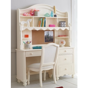 Summerset Ivory Desk with Hutch & Chair
