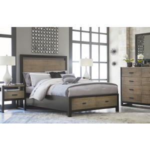 Panel Bed with Storage Queen