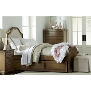 Upholstered Panel Bed Twin