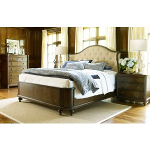 Upholstered Shelter Bed King King
