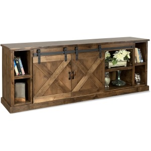 "Farmhouse 85"" TV Console - Aged Whiskey"