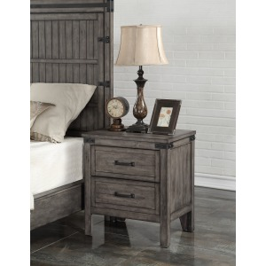 Storehouse Nightstand - Smoked Grey