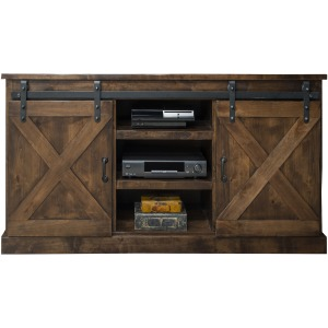 "Farmhouse 56"" Corner TV Console - Aged Whiskey"