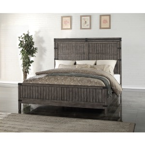 Storehouse Queen Bed - Smoked Grey